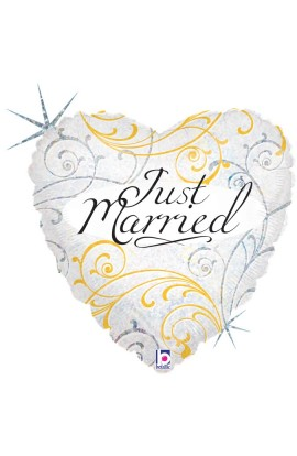 "18"" JUST MARRIED FILIGREE"