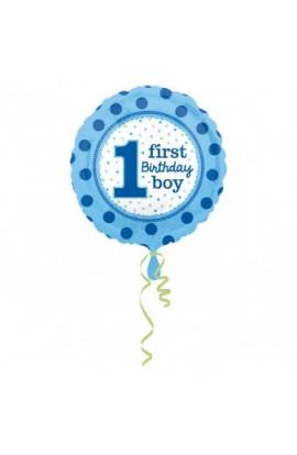 """Balon foliowy 18"""" Pierwsze urodziny chłopca"""