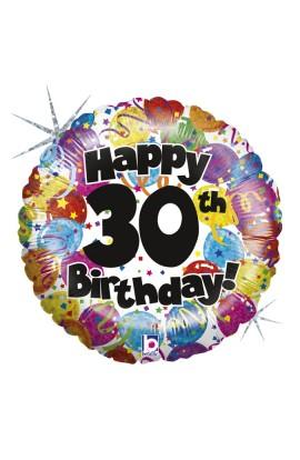 """Balon foliowy 18""""  30-te urodziny"""