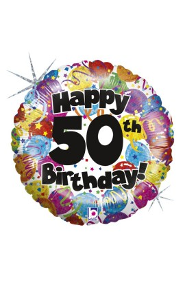"Balon foliowy 18"" PARTY BIRTHDAY 50"