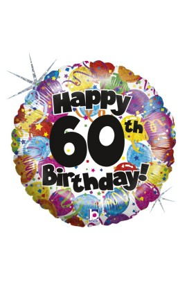 "Balon foliowy 18"" PARTY BIRTHDAY 60"