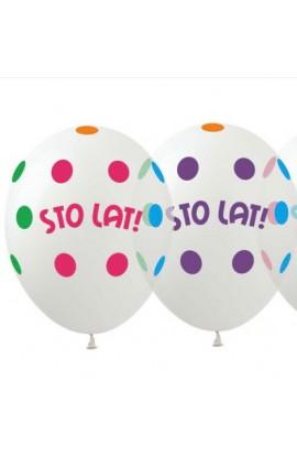 Balony gumowe z napisem Sto Lat!