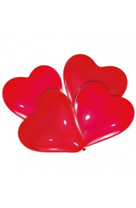 Balony gumowe czerwone serca