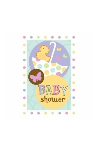 ZAPROSZENIA NA BABY SHOWER 8 SZT./OP.