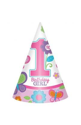 CZAPECZKI 1ST BIRTHDAY GIRL 8 SZT./OP.