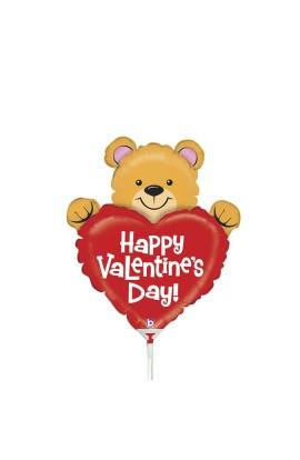 """Balon foliowy 14"""" Walentynkowy Miś"""
