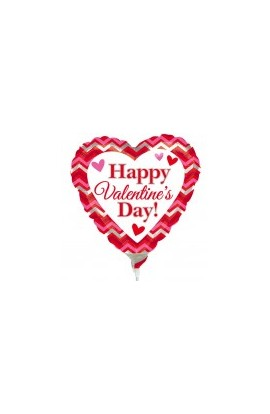 "Balon foliowy 9"" Happy Valentine's Day"