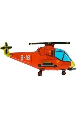 """24"""" Helikopter Czerwony Grabo Transparent"""