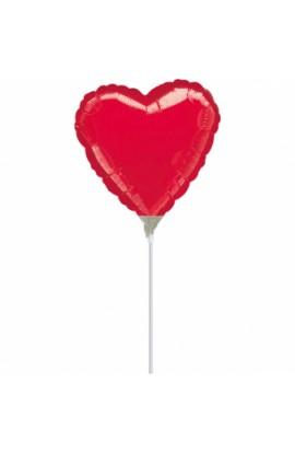 """Balon foliowy 9"""" czerwone serduszko"""