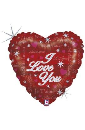 """Balon foliowy 18"""" I Love You w różnych językach"""