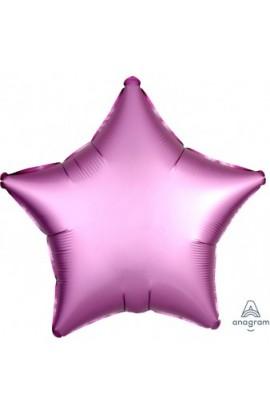 """Balon foliowy 18"""" Satin lux gwiazda różowa"""