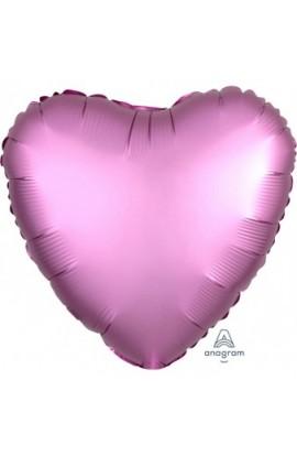 """Balon foliowy 18"""" Satin Lux różowe serce"""