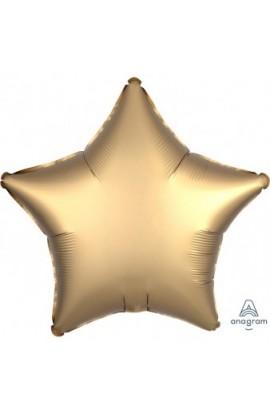 """Balon foliowy 18"""" Satin lux gwiazda złota"""