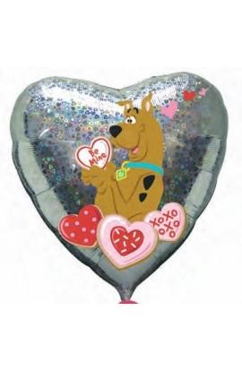 """Balon foliowy 18"""" na Walentynki ze Scooby Doo"""