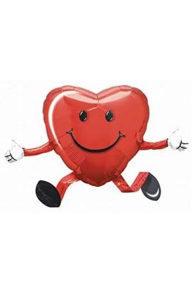 Balon foliowy chodzący uśmiechnięte serce