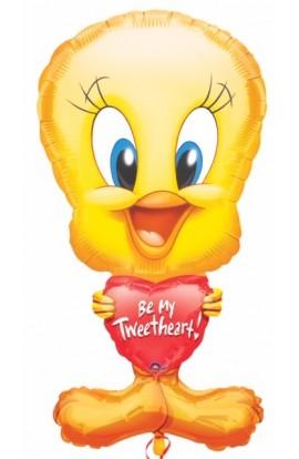 """Balon foliowy 24"""" Tweety na Walentynki"""