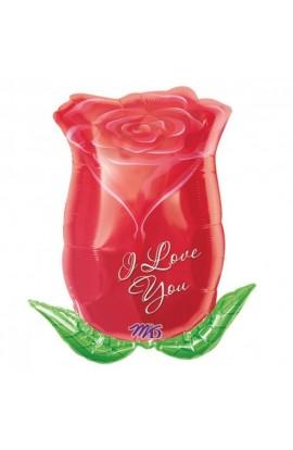 """Balon foliowy 24"""" róża I love you"""