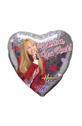 """Balon foliowy 18"""" Walentynkowy z Hannah Montana"""