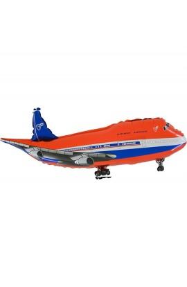 """Balon foliowy 24"""" Samolot Czerwony Grabo Transparent"""
