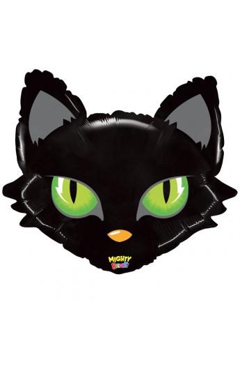 "Balon foliowy 28"" Kot Halloween"