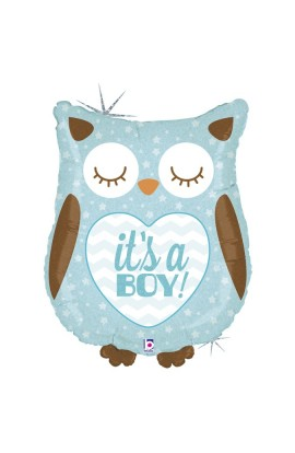 "26"" IT'S A BOY OWL HOLOGRAPHIC"