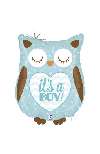 """26"""" IT'S A BOY OWL HOLOGRAPHIC"""