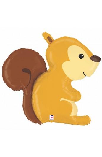 """Balon foliowy 36"""" zwierzęta leśne Wiewiórka"""