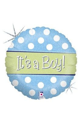 "18"" POLKA DOT IT'S A BOY"