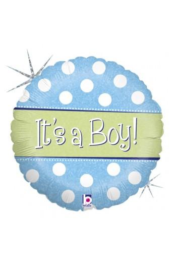 """18"""" POLKA DOT IT'S A BOY"""