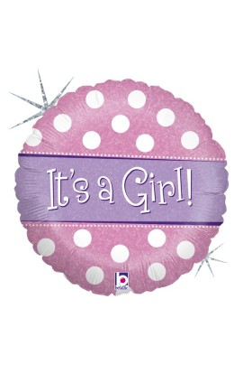 "18"" POLKA DOT IT'S A GIRL"