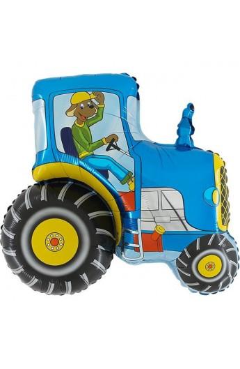 "24"" Traktor Niebieski Grabo Transparent"