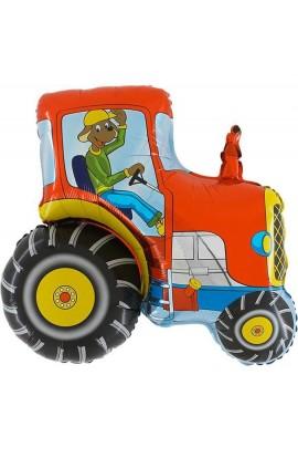 """24"""" Traktor Czerwony Grabo Transparent"""