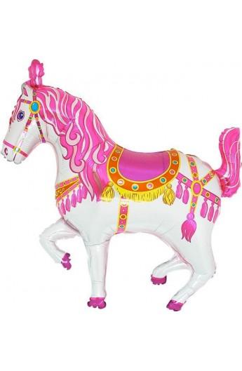 """24"""" Koń Cyrkowy Różowy Grabo Transparent"""