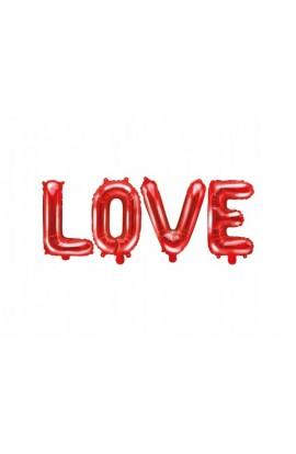 """Napis """"Love"""" czerwony"""