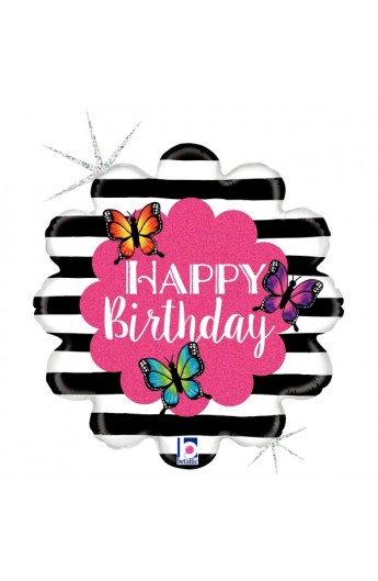 """18"""" RADIANT BUTTERFLY B-DAY"""