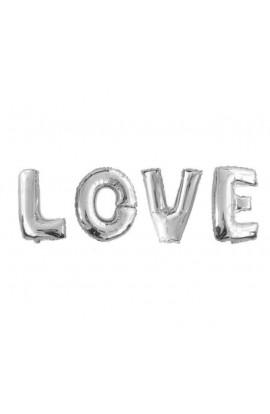 """Napis """"Love"""" srebrny"""