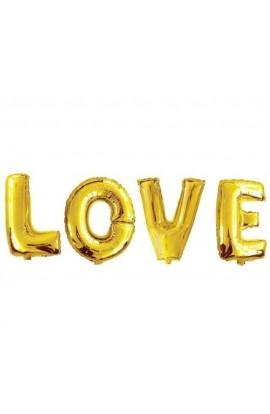 """Napis """"Love"""" złoty"""