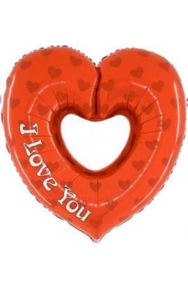 "Balon foliowy 24"" Serce ""I love you"""