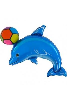 """Balon foliowy 24"""" Delfin z piłką"""