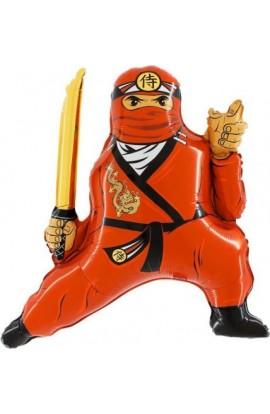 """24"""" Ninja Czerwony Grabo Transparent"""
