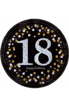Talerzyki na 18 urodziny srebrno-złote