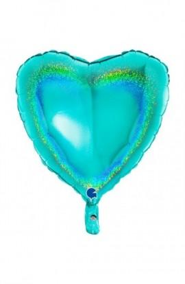 "Balon foliowy 18"" holograficzny tiffany"