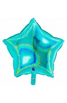 """Balon foliowy 18"""" gwiazda holograficzna tiffany"""