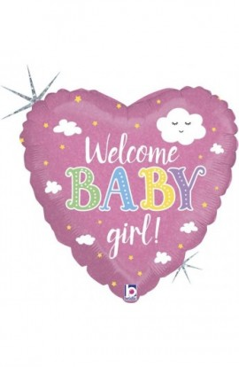 """18"""" WELCOME BABY GIRLS"""