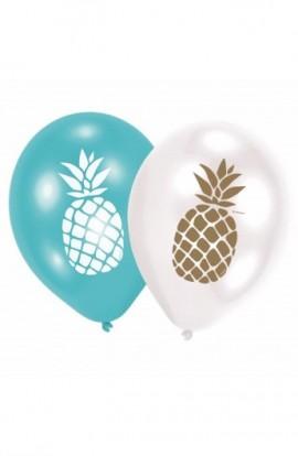 """Balony urodzionwe 12"""" Z NADRUKIEM ANANAS"""