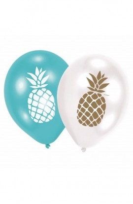 """Balony gumowe 12"""" z ananasem"""