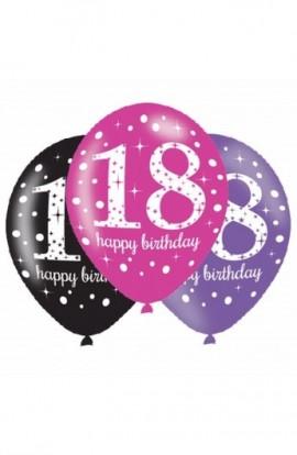 Balony urodzinowe na 18-tkę