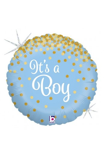 """18"""" IT'S A BOY HOLOGRAPHIC"""