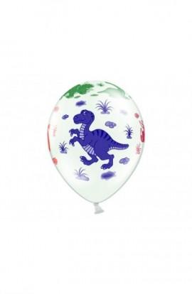6 szt. balonów z dinozaurami