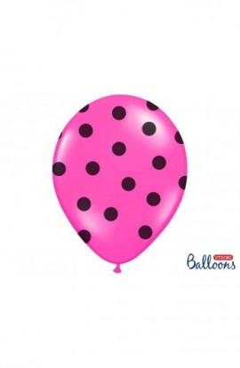 Balony urodzinowe 6 SZT. 30CM KROPKI